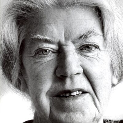 Mary Lavin portrait circa 1982 (photo by Diarmuid Peavoy)